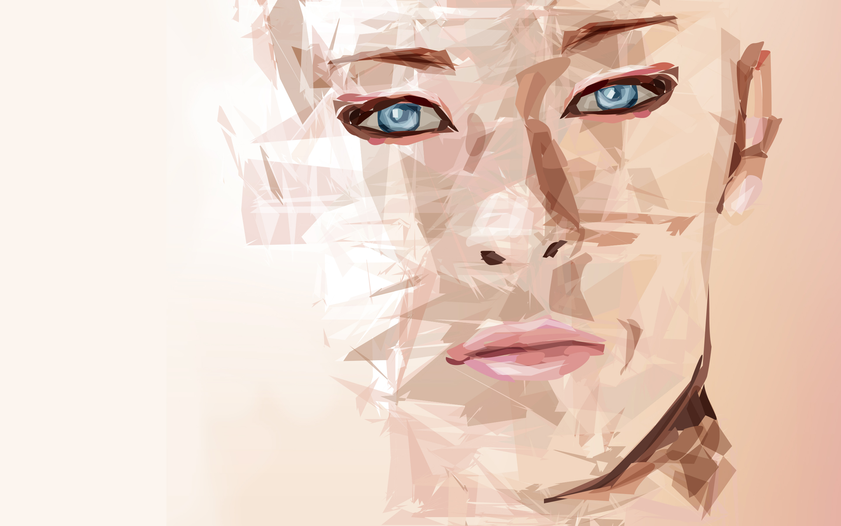 Vector portrait woman
